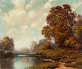 Texas:Early Texas Art - Regionalists, A.D. Greer (American, 1904-1998). Autumn Landscape. Oil oncanvas. 22 x 26 inches (55.9 x 66 cm). Signed lower left:A...