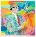 Fine Art - Work on Paper:Print, LeRoy Neiman (American, 1921-2012). Frank Sinatra, 1994.Silkscreen in colors on paper. 29-1/8 x 29-1/8 inches (74 x 74 ...