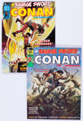 Magazines:Adventure, Savage Sword of Conan #1 and 2 Group (Marvel, 1974) Condition: Average VF+.... (Total: 2 Comic Books)