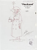 Animation Art:Concept Art, Atlantis: The Lost Empire Packard Character Concept Art(Walt Disney, 2001).... (Total: 3 )