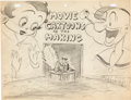 Animation Art:Production Drawing, Popeye the Sailor Meet Sinbad the Sailor Betty Boop andPopeye Publicity Drawing (Fleischer, 1936)....