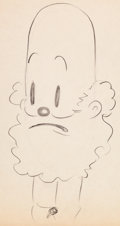 Animation Art:Production Drawing, Betty Boop Grampy Animation Drawing (Fleischer, 1930s)....