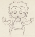 Animation Art:Production Drawing, Betty Boop Animation Model Drawing (Fleischer, 1930s)....