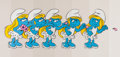 Animation Art:Limited Edition Cel, The Smurfs Smurfette Original Art Production Cels Group of 5 (Hanna-Barbera, 1981).... (Total: 5 Original Art)