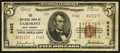 National Bank Notes:West Virginia, Fairmont, WV - $5 1929 Ty. 2 The NB of Fairmont Ch. # 9462. ...