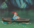 Animation Art:Production Cel, Peter Pan Mr. Smee Production Cel Setup (Walt Disney,1953)....