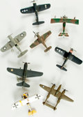 Books:Furniture & Accessories, [World War I, World War II, Aviation, Models]. Group of Eight HandAssembled Scale Models Depicting World War One and Two Era ...