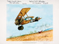 Books:Prints & Leaves, [World War I, Aviation]. Robert E. Carlin, artist. INSCRIBED. ColorLithograph Print Entitled, Flying Over the Crash Sit...