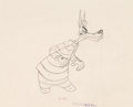 "Animation Art:Production Drawing, Droopy ""Northwest Hounded Police"" Convict Wolfie AnimationDrawing (MGM, 1946)...."