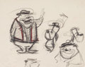 animation art:Model Sheet, Droopy's Good Deed Droopy and Spike Model Sheet (MGM,1945)....