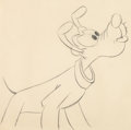 Animation Art:Production Drawing, Pluto's Christmas Tree Pluto Animation Drawing (Walt Disney,1952)....