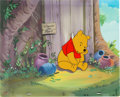 Animation Art:Production Cel, Winnie the Pooh Production Cel and Key Master Background(Walt Disney, 1985)....