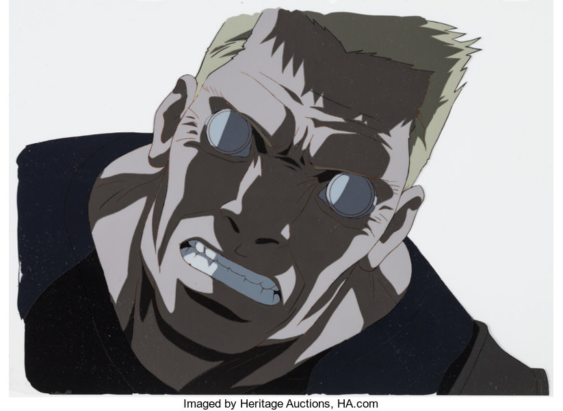 Animation ArtProduction Cel Ghost In The Shell Batou Anime Production And AnimationDrawing