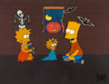 "Animation Art:Production Cel, The Simpsons ""Treehouse of Horror"" Production Cel Setup(Fox, 1990)...."