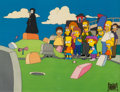 "Animation Art:Production Cel, The Simpsons ""Dead Putting Society"" Production Cel Setup(Fox, 1990)...."