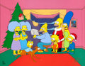 "Animation Art:Limited Edition Cel, The Simpsons ""Simpsons Roasting on an Open Fire"" LimitedEdition Cel (Fox, 1990)...."