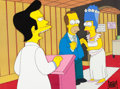 """Animation Art:Production Cel, The Simpsons """"I Married Marge"""" Production Cel Setup (Fox, 1991)...."""
