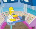 """Animation Art:Production Cel, The Simpsons """"Homer Defined"""" Homer with Donuts ProductionCel Setup (Fox, 1991)...."""