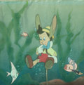 Animation Art:Production Cel, Pinocchio Production Cel Setup (Walt Disney, 1940)....