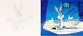 Animation Art:Production Cel, An Ounce of Prevention Bugs Bunny Production Cel Signed byMel Blanc with Production Drawing (Warner Brothers, 1982)....(Total: 2 )