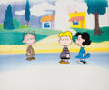 Animation Art:Production Cel, Peanuts - Pig-Pen, Lucy, and Schroeder Production Cel Setup (BillMelendez, 1960s-70s)....