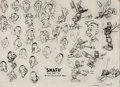 animation art:Model Sheet, Private Snafu Studio Model Sheet (Warner Brothers, 1943)....
