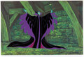Animation Art:Color Model, Sleeping Beauty Maleficent Color Model Cel Setup (WaltDisney, 1959/90)....