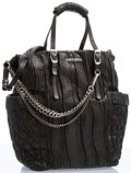 """Luxury Accessories:Accessories, Jimmy Choo Black Water Snake Blare Tote Bag with Silver Hardware.13"""" Width x 15"""" Height x 4"""" Depth. Very Good to Excellen..."""