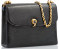 "Luxury Accessories:Accessories, Gucci Black Lizard Shoulder Bag with Gold Hardware. 8"" Width x6"" Height x 2.5"" Depth. Very Good to ExcellentConditio..."