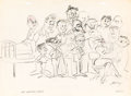 Animation Art:Production Drawing, Jerry Eisenberg - Looney Tunes Staff Studio Gag Drawing (WarnerBrothers, 1959)....