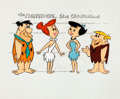 Animation Art:Color Model, The Flintstones Fred and Wilma Flintstone and Barney and BettyRubble Color Model and Size Comparison Group of 2 (Hanna-Barber...(Total: 2 Items)