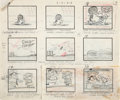 Animation Art:Production Drawing, Oscar Meyer TV Commercial Storyboards (Hanna-Barbera, 1960)....(Total: 3 Items)