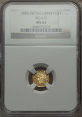 California Fractional Gold , 1855 $1 Liberty Octagonal 1 Dollar, BG-533, Low R.4 MS62 NGC. NGCCensus: (3/2). PCGS Population (15/7). . From The Elbe...