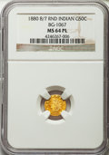 , 1880/70 50C Indian Round 50 Cents, BG-1067, Low R.4, MS64 ProoflikeNGC. NGC Census: (5/4). . Fro...