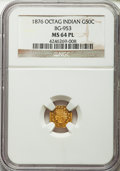 California Fractional Gold : , 1876 50C Indian Octagonal 50 Cents, BG-953, R.5, MS64 ProoflikeNGC. NGC Census: (2/0). . From Th...