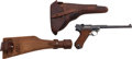 Handguns:Semiautomatic Pistol, DWM 1917 Artillery Luger Semi-Automatic Pistol with Leather Holsterand Shoulder Stock....