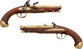 Handguns:Muzzle loading, Scarce Pair of Duval A Nantes c. 1765 Flintlock Pistols.... (Total:2 Items)
