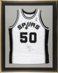 Basketball Collectibles:Others, David Robinson Signed Jersey. The heroic San Antonio Spurs centerDavid Robinson has signed the offered white home jersey. ...