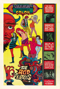 "The Acid Eaters (FPS Ventures, 1968). One Sheet (28"" X 41.5"")"