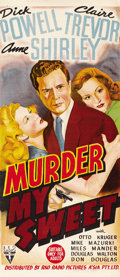 "Movie Posters:Film Noir, Murder, My Sweet (RKO, 1944). Australian Daybill (13"" X 30""). ..."