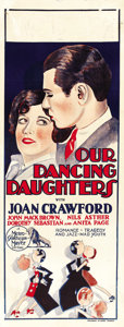 "Movie Posters:Drama, Our Dancing Daughters (MGM, 1928). Pre-War Australian Daybill (15""X 39.5""). ..."