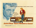 "Movie Posters:Drama, Rebel Without a Cause (Warner Brothers, 1955). Half Sheet (22"" X28""). ..."