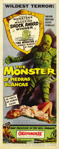 "Movie Posters:Horror, The Monster of Piedras Blancas (Film Service Distributing, 1959).Insert (14"" X 36""). ..."