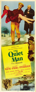 "Movie Posters:Drama, The Quiet Man (Republic, 1952). Insert (14"" X 36""). ..."