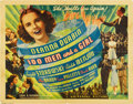 """Movie Posters:Musical, 100 Men and a Girl (Universal, 1937). Half Sheet (22"""" x 28"""")...."""