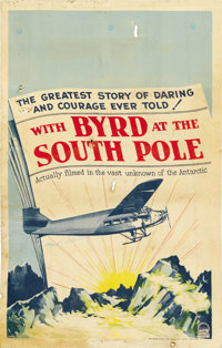 """With Byrd at the South Pole (Paramount, 1930). Window Card (14"""" X 22"""")"""