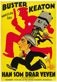 "The Cameraman (MGM, 1928). Swedish One Sheet (27.5"" X 38.5"")"