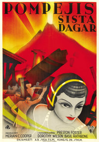 "The Last Days of Pompeii (RKO, 1935). Swedish One Sheet (27"" X 41"")"