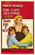 "Movie Posters:Comedy, Some Like it Hot (United Artists, 1959). One Sheet (27"" X 41""). ..."
