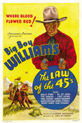 "Movie Posters:Western, The Law Of The 45's (Normandy, 1935). One Sheet (27"" X 41"")...."